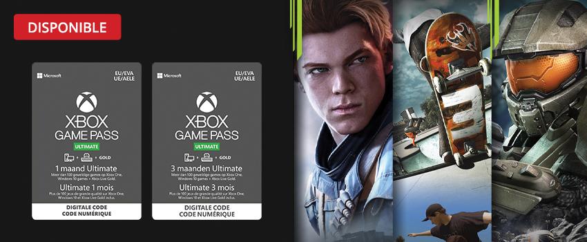 Achetez votre GamePass Microsoft