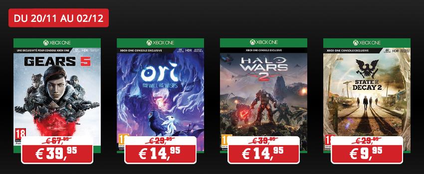 Promotions jeux Microsoft
