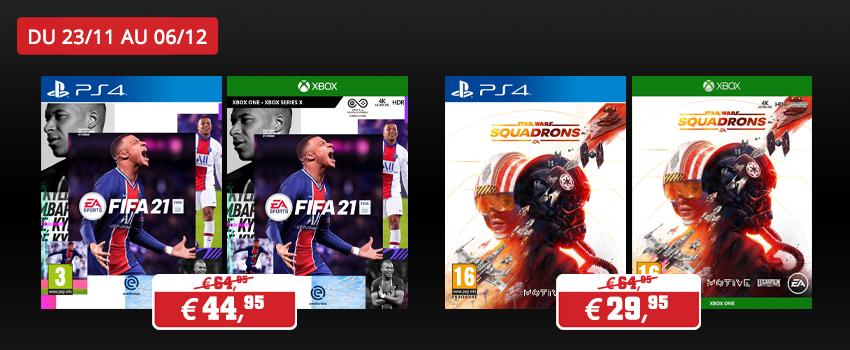 Promotions jeux EA Games