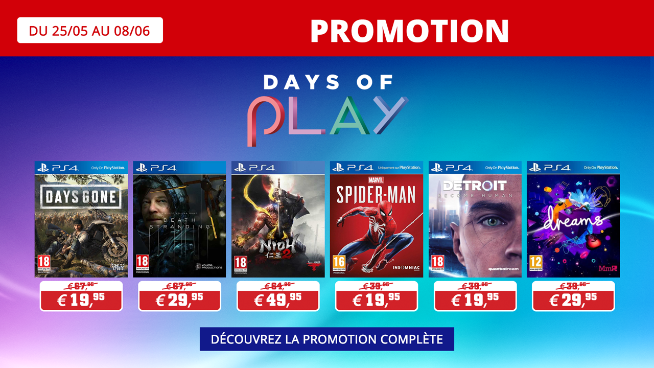 Days of Play 2020 Playstation jeux
