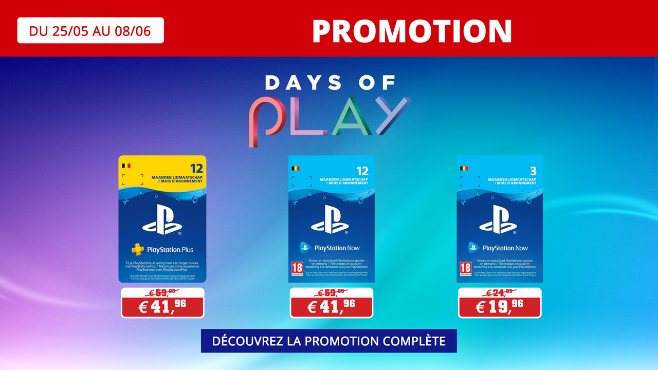Days of Play 2020 Playstation Now