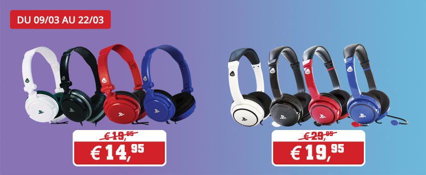 Promotion 4gamers casques