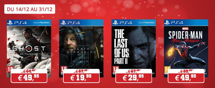 Promotions jeux Sony