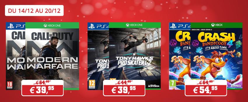 Promotions jeux Activision