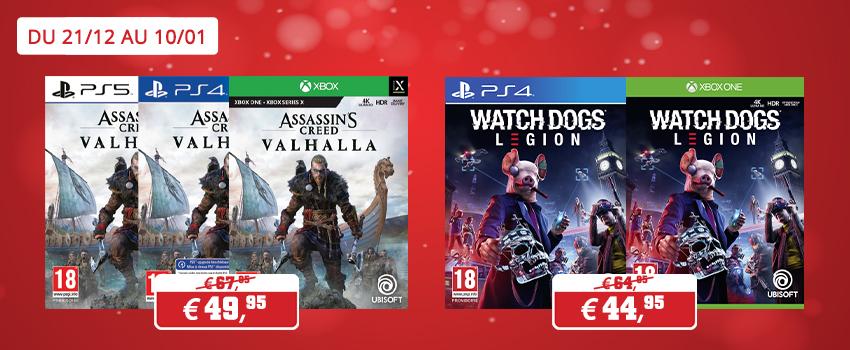 Promotions jeux Ubisoft