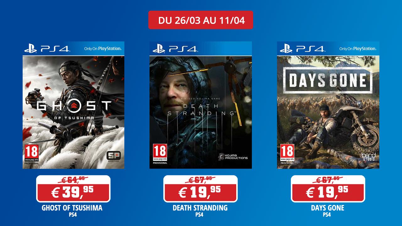 Promotions sur des jeux Sony