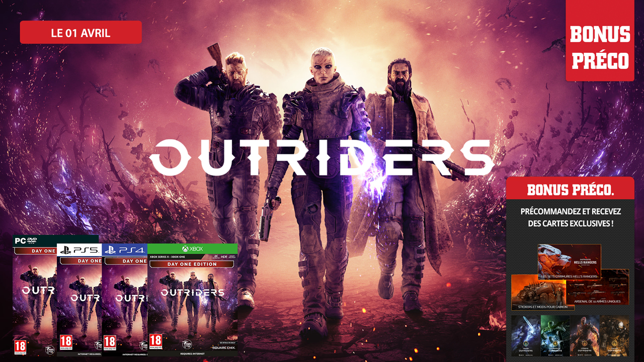 Outriders sort le 01 avril !