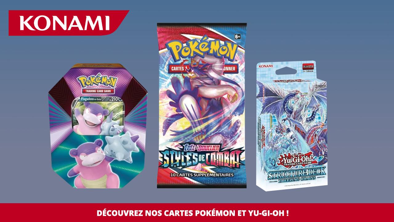 Découvrez nos cartes Pokémon et Yu-Gi-Oh !