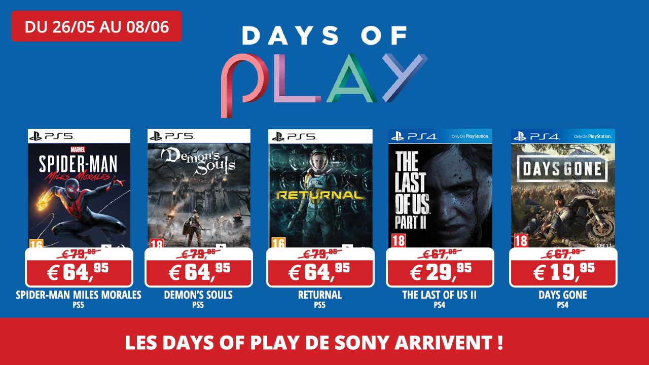 Les promos Days Of Play Sony arrivent !