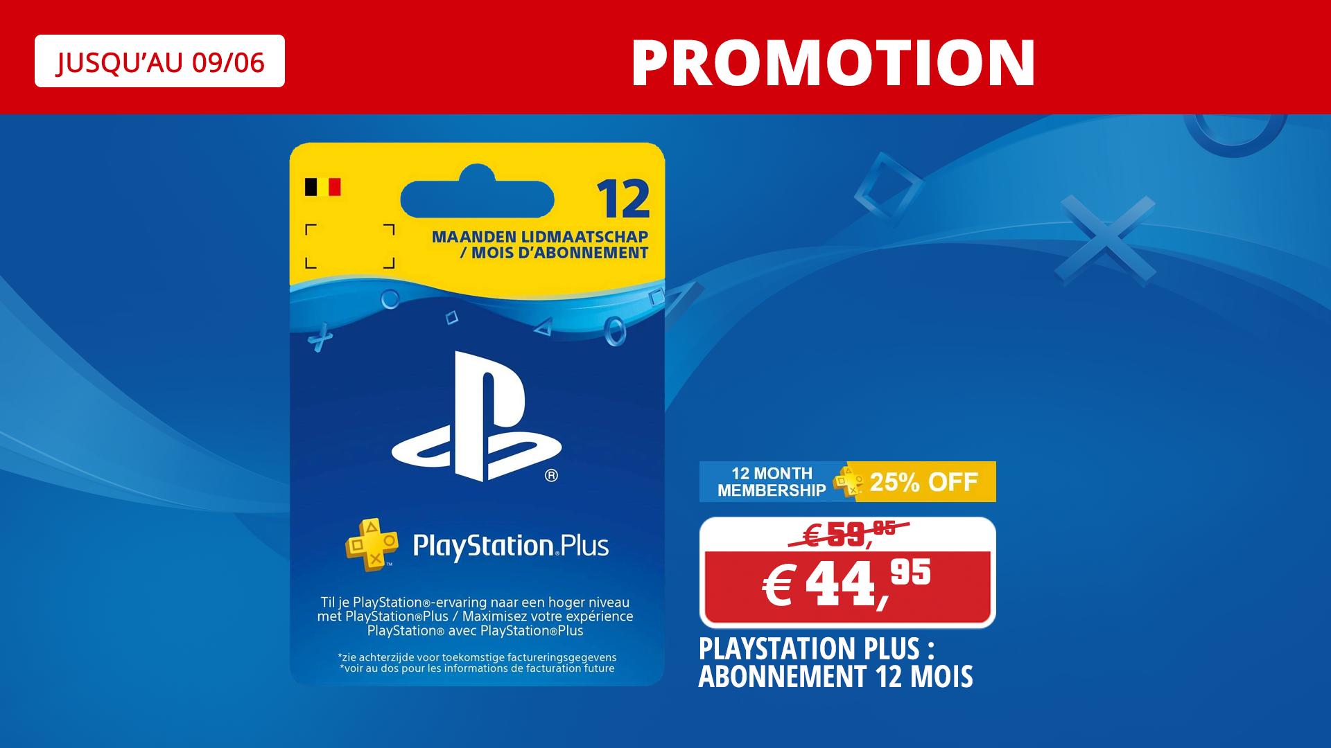 Promo sur l'abonnement Playstation Plus !