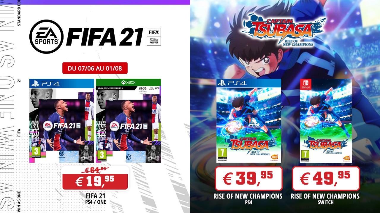 Profitez des jeux FIFA 21 et Captain Tsubasa: Rise of New Champions durant l'Euro 2021
