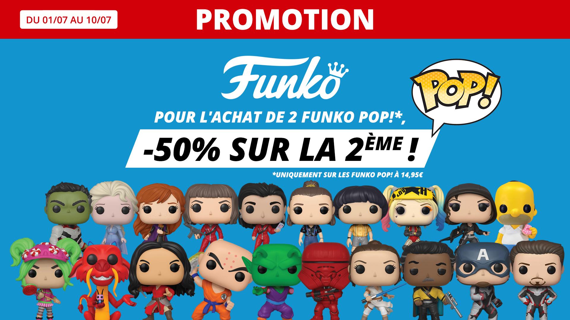 Promotion sur le Funko pop