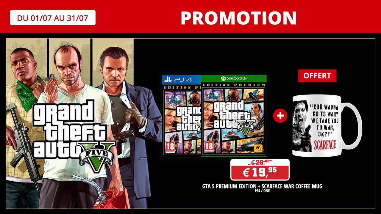 GTA edition premium + un mug Scarface gratuit